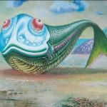 Landschaft mit einem Fisch | Пейзаж с рыбой